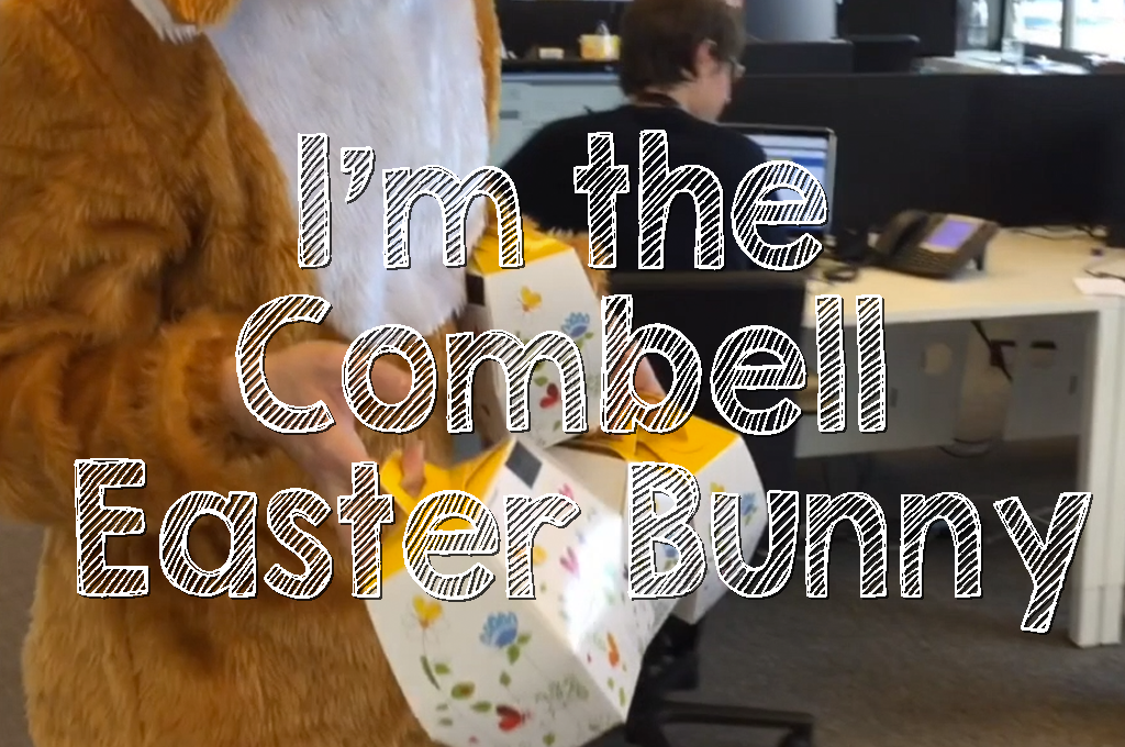 I'm the Combell Easter Bunny