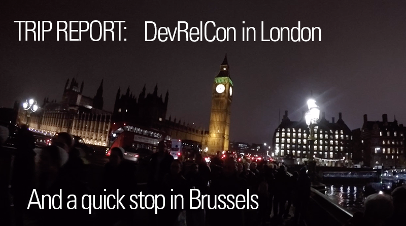 DevRelCon London - trip report